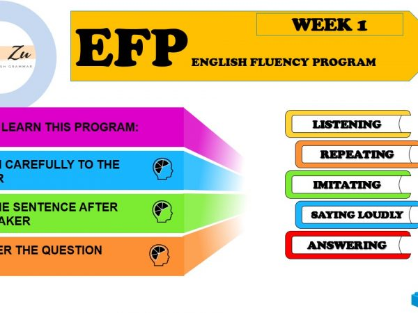 English Fluency Program – EFP Week 01
