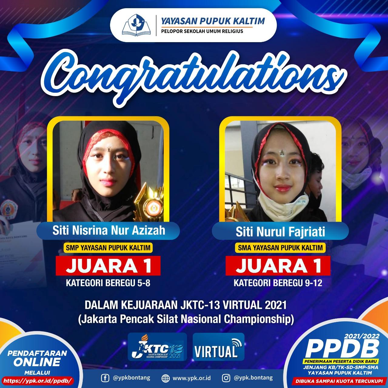 SMP YPK RAIH JUARA PENCAK SILAT Jakarta Pencak Silat Nasional Championship (JKTC-13).